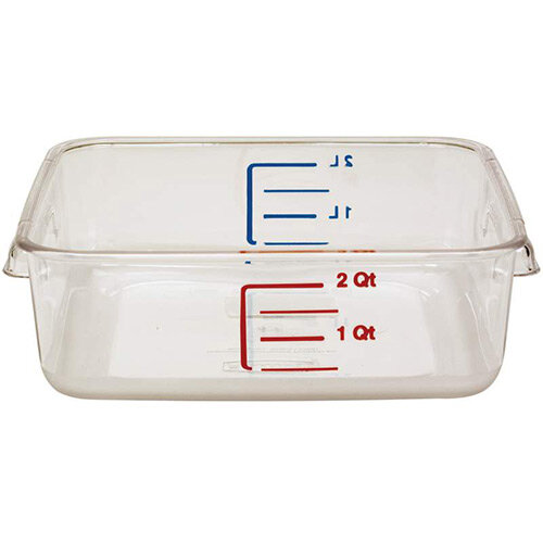 Rubbermaid 1.9L Space Saving Stackable Food Storage Square Container Graduated Clear