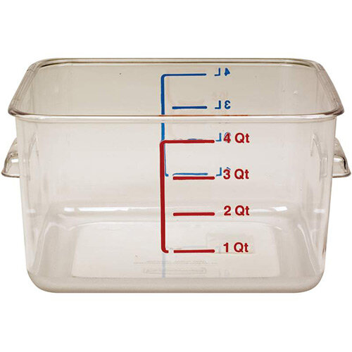 Rubbermaid 3.8L Space Saving Stackable Food Storage Square Container Graduated Clear