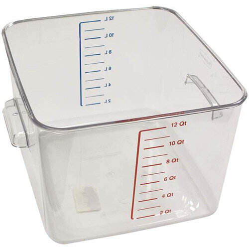 Rubbermaid 11.4L Space Saving Stackable Food Storage Square Container Graduated Clear