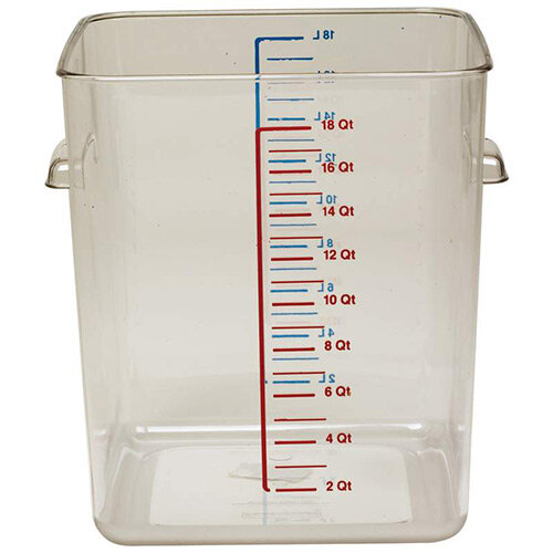 Rubbermaid 17L Space Saving Stackable Food Storage Square Container Graduated Clear