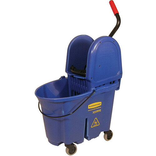 Rubbermaid WaveBrake Down Press Combo High Performance Mopping System Mobile Bucket Blue