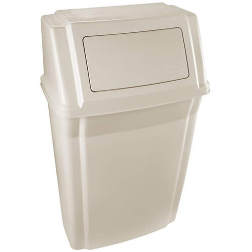 Rubbermaid Slim Jim Wall Mounted Container 56.8L Beige