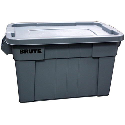 Rubbermaid 75.5L BRUTE Tote with Lid Grey