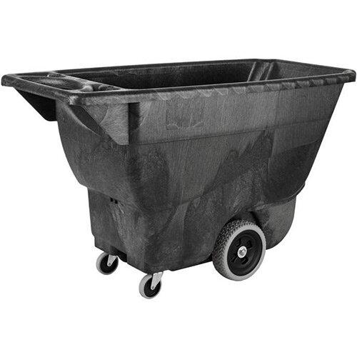 Rubbermaid Standard Duty 0.4 Cubic Meter Capacity Polyethylene Dump Tilt Truck 145.7 x 68.3 x H86cm Black