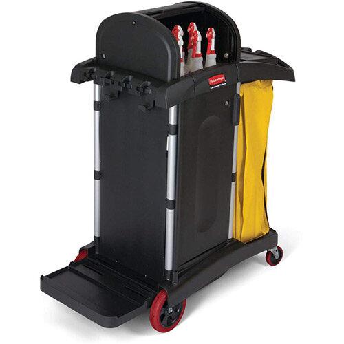 Rubbermaid High Security Housekeeping Cart Black