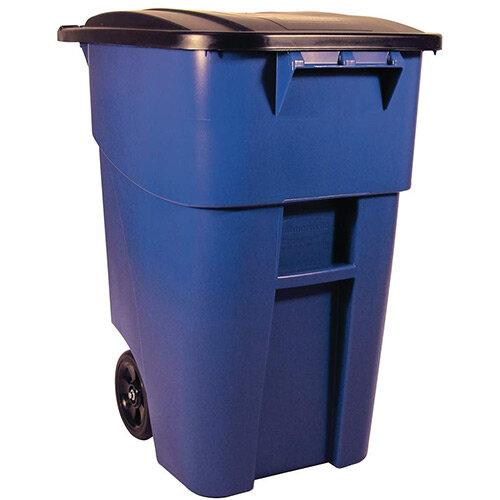 Rubbermail 189.3L BRUTE Rollout Container Wheelie Bin Blue