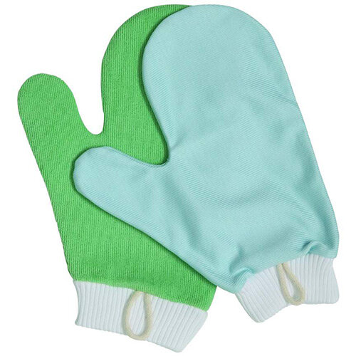 Rubbermaid HYGEN Microfiber Glass &Mirror Mitt with Thumb Blue