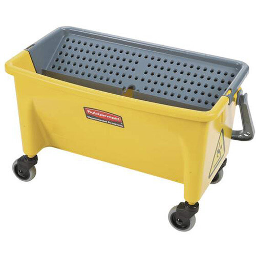 Rubbermaid Press Wing Bucket with Wheels Yellow