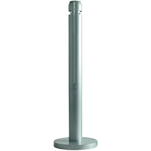 Rubbermaid Smokers Pole Ash Bin Aluminium Weather-Resistant Base Dia324mm H1041mm Silver
