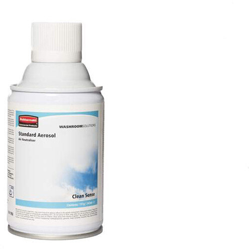 Rubbermaid Microburst 3000 243ml LED &LCD Aerosol Air Freshener Dispenser Refill Clean Sense 243ml