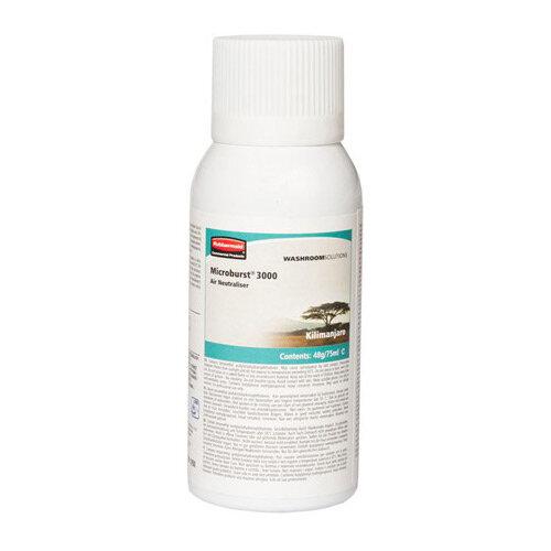 Rubbermaid Microburst 3000 75ml LCD &LumeCell Aerosol  Air Freshener Dispenser Refill Kilimanjaro 75ml
