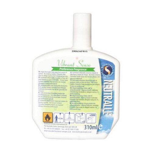 Rubbermaid Vibrant Sense Refill  For Pump Spray Airfreshener Dispensers 300ml