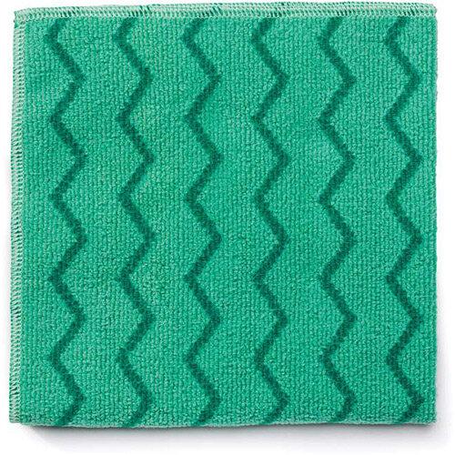 Rubbermaid HYGEN Microfiber Cloth With Zig-zag Scrubbing Strips Green