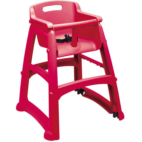 Rubbermaid Sturdy Baby Chair with Feet Red