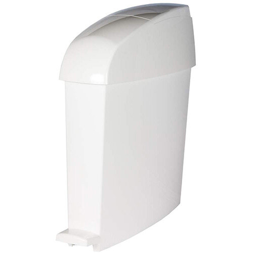 Rubbermaid MiniPed 12L Front Opening Pedal Operated Bin White