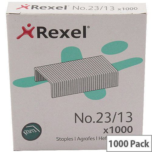 Rexel Heavy Duty Staples No23/13mm Pack of 1000 2101053
