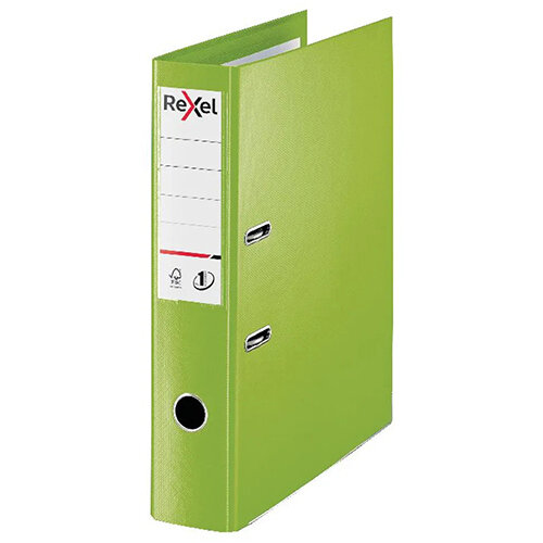 Rexel Choices 75mm Lever Arch File Polypropylene Foolscap Green 2115514
