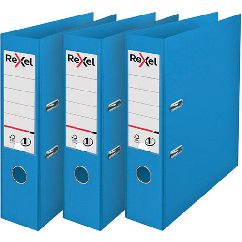 Rexel Choices Lever Arch File A4 Polypropylene Blue 3 For 2 RX810223