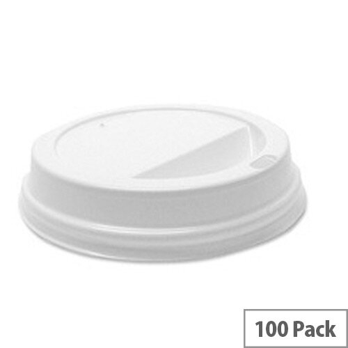Robinson Young Sip Disposable Lids for Paper Cups 8oz/250ml White [Pack of 100] RY01162