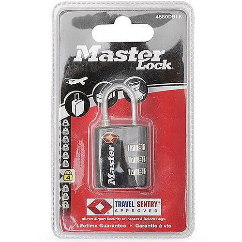 Master Lock 32mm TSA Combination Padlock Black (Pack of 1) 40054