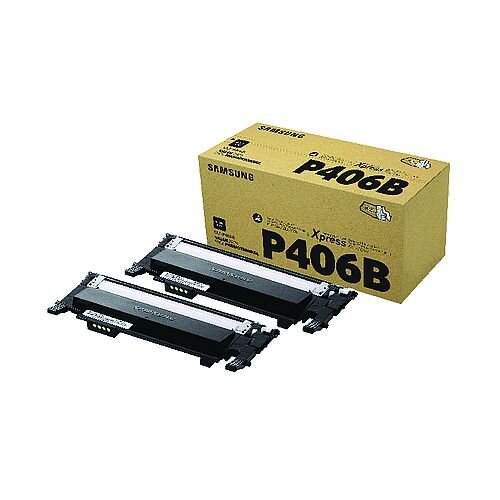 Samsung P406B Black Toner Cartridge Twin Pack CLT-P406B/ELS