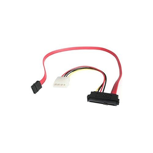 StarTech 18in SAS 29 Pin to SATA Cable with LP4 Power 1 x Male SATA 1 x Male SAS