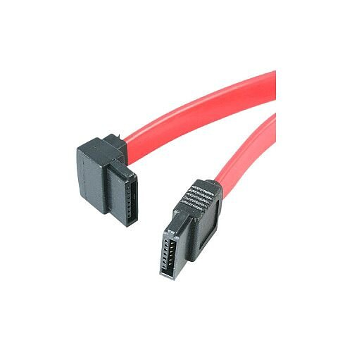 StarTech 18in SATA to Left Angle SATA Serial ATA Cable F/F 1 x Male SATA 1 x SATA Red