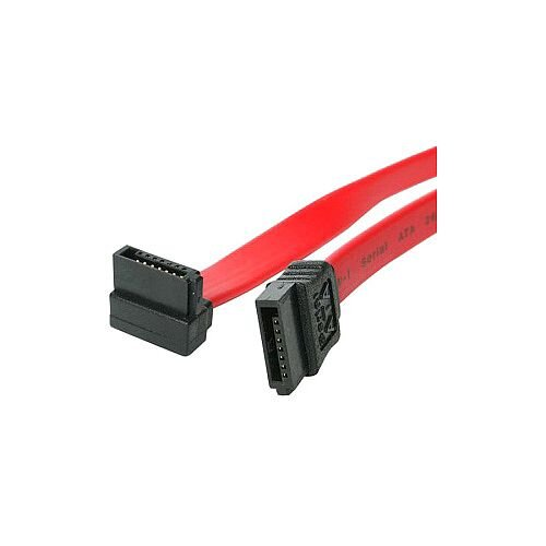 StarTech 18in SATA to Right Angle SATA Serial ATA Cable 1 x Female SATA 1 x Female SATA Red