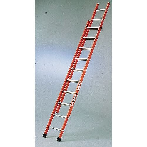 Glass Fibre Ladder 2 Sections 2x12 Treads Extended Height 6.05m Closed Height is 3.53m 316752