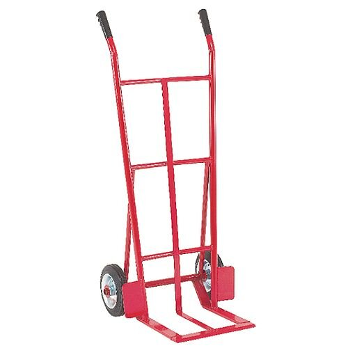 General Purpose Red Hand Truck With Rubber Wheels Capacity 150Kg 316859