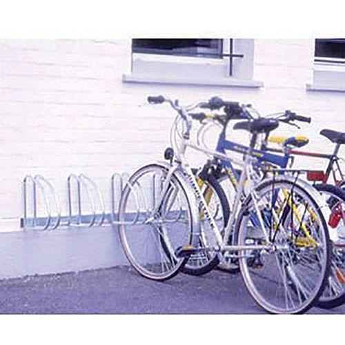 Wall/Floor Mounted Cycle Rack 4-Bike Aluminium 320079