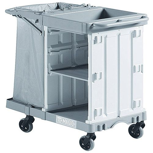 Housekeeping Trolley Cart Grey Suitable for 8 to 10 rooms 374980