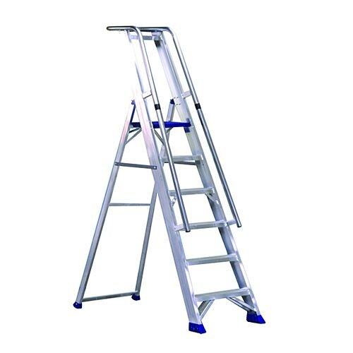 Aluminium 7 Steps Ladder Platform Height 1.61M Closed Height 2.55M Capacity 150Kg 377857