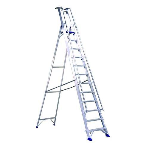 Aluminium 6 Steps Ladder Platform Height 1.39M Closed Height 2.3M Capacity 150Kg 377856