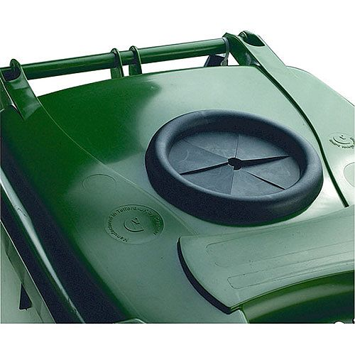 Wheelie Bin 120 Litre with Bottle Bank Aperture and Lid Lock Green 124554