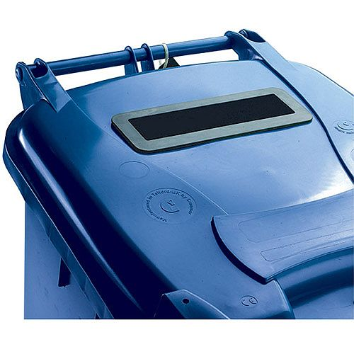 Confidential Waste Wheelie Bin 140 Litre with Slot and Lid Lock Blue 377891 124540