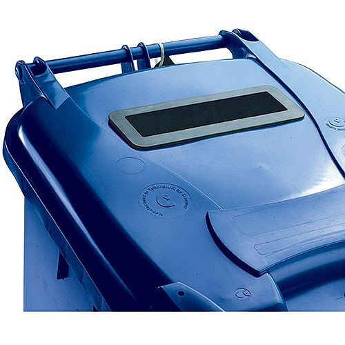 Confidential Waste Wheelie Bin 360 Litre with Slot and Lid Lock Blue 377893