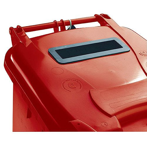 Confidential Waste Wheelie Bin 240 Litre with Slot and Lid Lock Red 377909 124546