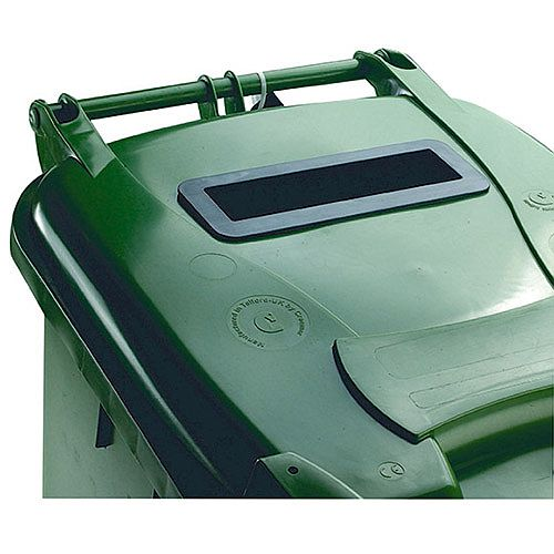 Confidential Waste Wheelie Bin 360 Litre with Slot and Lid Lock Green 377917