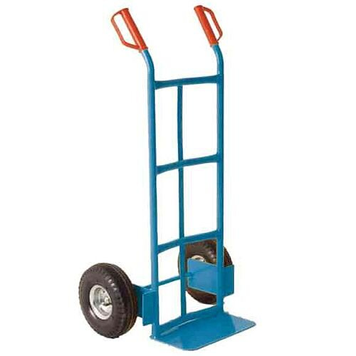 Traditional Tubular Blue Hand Truck Capacity 100Kg With Rubber Wheels 382070