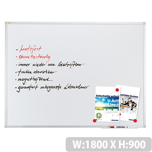 Franken ValueLine Magnetic Whiteboard Enamel Surface 1800x900mm SC3207