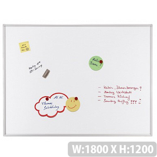 Franken ECO Magnetic Whiteboard Lacquered Steel 1800 x 1200mm White SC4105