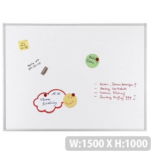 Franken ECO Magnetic Whiteboard Lacquered Steel 1500 x 1000mm White SC4109