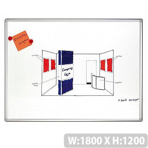 Franken PRO Enameled Magnetic Whiteboard 1200 x 1800mm White SC8205