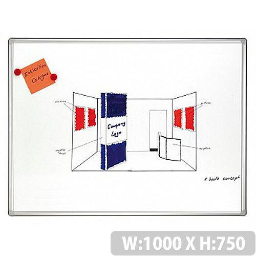 Franken PRO Enameled Magnetic Whiteboard 750 x 1000mm SC8208
