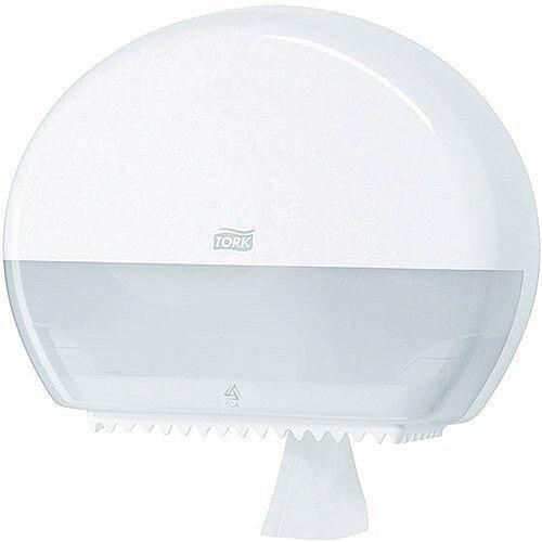 Tork T2 Mini Jumbo Toilet Roll Plastic Dispenser White (Pack of 1) 555000
