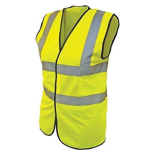 Medium Hi-Vis Vests Yellow Waistcoat