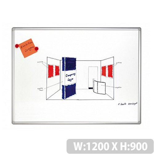 Franken Pro Double Sided Lacquered Steel Whiteboard 1200 x 900mm