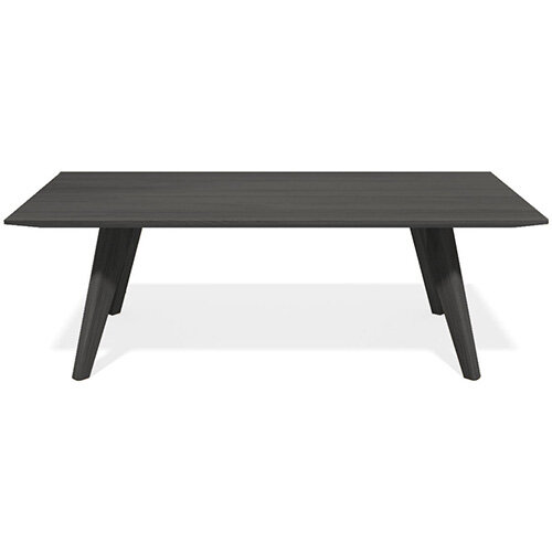 Frovi SCANDI Rectangular Coffee Table With Black Oak Frame W1200xD800xH390mm