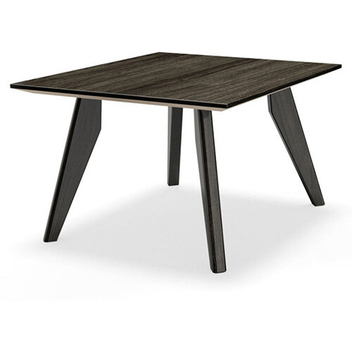Frovi SCANDI Square Coffee Table With Black Oak Frame W600xD600xH390mm